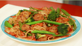 Japanese Udon Noodles with Shrimp & Vegetables