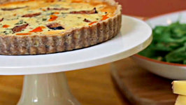 Tess Wards Gluten Free Comte Cheese Sweet Potato and Fig Tart