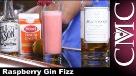 Raspberry Gin Fizz, Valentine's Day Drink!