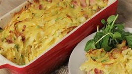 Ham, Leek And Pea Pasta Bake