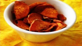 Curried Sweet Potato Chips- Healthy Summer Snack Ideas