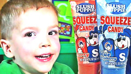 Most Addicting Kid Candy Ever Created - Slush Puppie Squeeze Candy Cherry Flavor Kids Candy Review