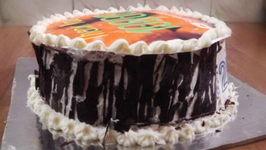 Black Forest Ice Cream Cake - 10000 Subscribers Celebration - Eggless Baking Without Oven