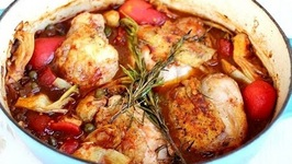 Dinner Recipe: Baked Chicken Thighs with Tomatoes, Artichokes & Capers