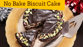 No Bake Biscuit Cake  Quick And Easy Recipe  Ruchi's Kitchen