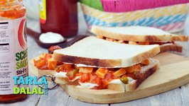 Schezwan Paneer Cold Sandwich