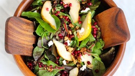 Salad Recipe: Pear, Pomegranate and Walnut Salad