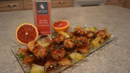 How To Cook Pan Seared Scallops with Blood Orange And Starfruit Beurre Rouge Sauce WCKwK
