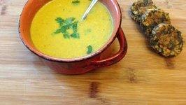Curried Cauliflower Soup Vegan Winter Soup