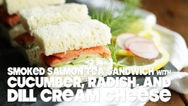 Smoked Salmon Tea Sandwich with Dill Cream Cheese