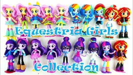 MLP Equestria Girls Collection Twilight Sunset Shimmer Rainbow Dash Fluttershy Playmobil Surprise