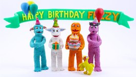 fuzzy puppets surprise birthday party fuz turns 2 funny cartoons