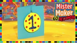 DIY Badge Card - How To Make In 60 Seconds - Mister Maker