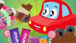 Chocolate Song - Little Red Car - Video For Kids