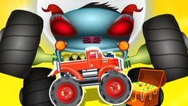 The Nightmare - Haunted House Monster Trucks - Cartoon Videos For Toddler by Kids Channel