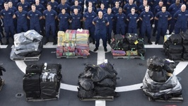 Coast Guard Offloads 14,000 Pounds of Seized Cocaine in South Florida