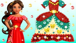 Play Doh Making Colorful Sparkle Princess Dress Elena Of Avalor Barbie Car Modelling Clay