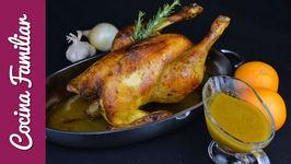Pollo capón asado para Navidad - Recetas caseras