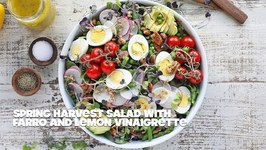 Spring Salad With Farro And Lemon Thyme Vinaigrette