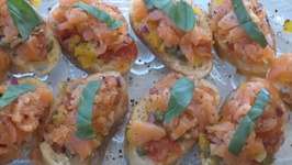 Smoke Salmon Bruschetta