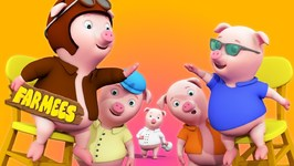 Five Little Piggies -  Nursery Rhymes For Childrens