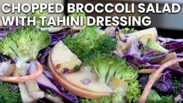 Chopped Broccoli Salad With Tahini Dressing