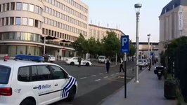 Police Secure Perimeter Brussels Central Station After Security Incident