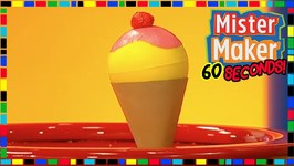 Ice Cream Cone Game - How To Make In 60 Seconds - Mister Maker