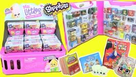 Shopkins Real Littles FULL BOX Opening  Storage Bag Case! REAL BRANDS Inside