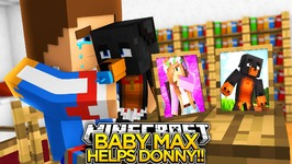 BABY MAX SAVES DONNY & DONUT'S FRIENDSHIP!!! - Minecraft - Little Donny Adventures.