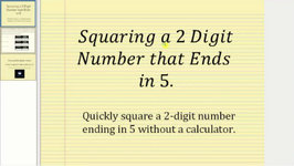 Square A Two Digit Number Ending In 5 Without Using A Calculator