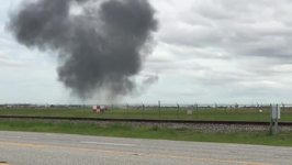 F-16 Catches Fire During Takeoff at Ellington Field