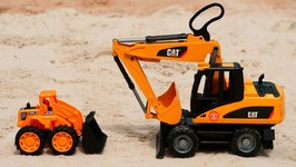 Vehicles for Kids and Bruder Toys- Cars for Kids - Bruder Excavator and Bruder Crane Truck for Kids