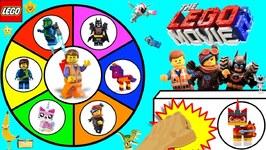 THE LEGO MOVIE 2 Spinning Wheel Game w/ SURPRISE TOYS  LEGO 2 MINIFIGURES