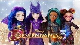 New Disney Descendants 3 Mal Dragon Queen Uma Dizzy Doll Unboxing Review