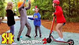 Noah's New Angry Birds 2 Rage Rider Scooter