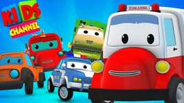 Road Rangers - Donnas Days Out - Accident At Highway - Ambulance Cartoon by Kids Channel