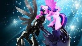 Twilight Sparkle Battles Pony of Shadows Custom Pony MLP