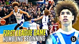 LaMelo And Gelo Ball HUMBLING First LEAGUE Game But Trust The Process! Melo DUNKING and Playing D!