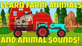 Learn Farm Animals - Learning Farm Animal Names and Animal Sounds for Kids
