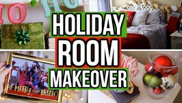 Holiday Room Makeover 2017 Easy Diy Holiday Room Decor