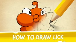 How to Draw Lick from Cut the Rope 2
