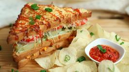 Junglee Sandwich Recipe - Mumbai Style Junglee Sandwich Recipe - Street Food Recipe - Ruchi