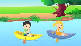 Row Row Row Your Boat - Nursery Rhyme And Childrens Songs - Kids Tv Nursery Rhymes