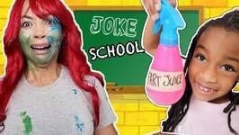 Pretend Teacher Birthday FAIL at Prank School! New Toy School