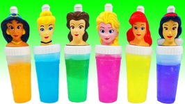 Learn Colors Disney Princess Bottles Slime Wet Surprise Toys Kids