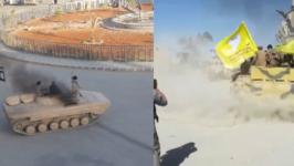 Tank Donuts Stunt Bookmarks Islamic State Chapter in Raqqa