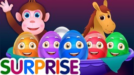 Surprise Eggs Nursery Rhymes Toys - Learn Baby Animals and Colours - ChuChu TV Egg Surprises