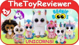 Ty Beanie Boo's Unicorn Plush Fantasia Pixy Heather Blitz Unboxing Toy Review by TheToyReviewer