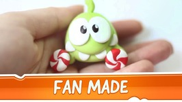 Om Nom from Cut the Rope Clay Tutorial